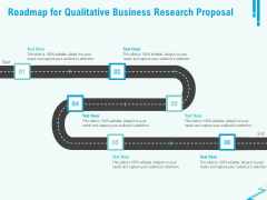 Qualitative Market Research Study Roadmap For Qualitative Business Research Proposal Introduction PDF