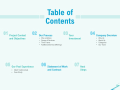 Qualitative Market Research Study Table Of Contents Template PDF