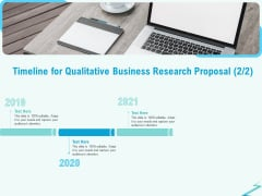 Qualitative Market Research Study Timeline For Qualitative Business Proposal Topics PDF