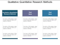 Qualitative Quantitative Research Methods Ppt PowerPoint Presentation Outline Design Templates