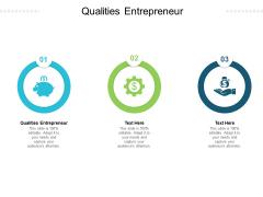 Qualities Entrepreneur Ppt PowerPoint Presentation Professional Show Cpb Pdf