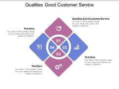 Qualities Good Customer Service Ppt PowerPoint Presentation Styles Portfolio Cpb