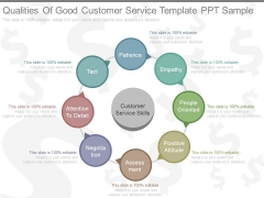 Qualities Of Good Customer Service Template Ppt Sample