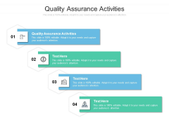 Quality Assurance Activities Ppt PowerPoint Presentation Infographics Professional Cpb