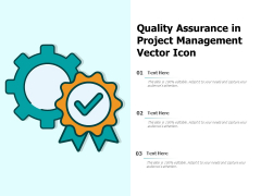 Quality Assurance In Project Management Vector Icon Ppt PowerPoint Presentation Gallery Layout Ideas PDF