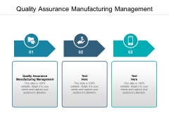 Quality Assurance Manufacturing Management Ppt PowerPoint Presentation Layouts Clipart Cpb