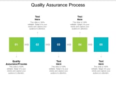Quality Assurance Process Ppt PowerPoint Presentation Icon Rules Cpb