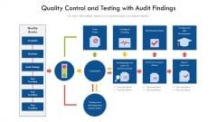 Quality Control And Testing With Audit Findings Ppt PowerPoint Presentation Gallery Ideas PDF