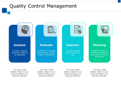 Quality Control Management Ppt PowerPoint Presentation Summary Samples