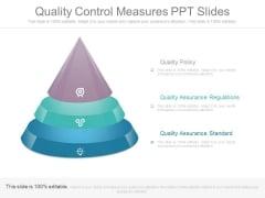 Quality Control Measures Ppt Slides