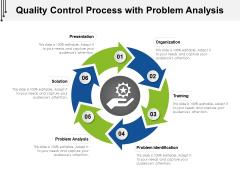 Quality Control Process With Problem Analysis Ppt PowerPoint Presentation Slides Slideshow PDF