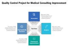 Quality Control Project For Medical Consulting Improvement Ppt PowerPoint Presentation Gallery Format Ideas PDF