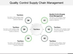 Quality Control Supply Chain Management Ppt PowerPoint Presentation Styles Clipart Cpb