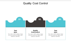 Quality Cost Control Ppt PowerPoint Presentation Icon Deck Cpb