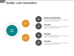 Quality Lead Generation Ppt PowerPoint Presentation Infographic Template Design Ideas