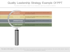 Quality Leadership Strategy Example Of Ppt