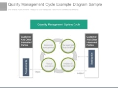 Quality Management Cycle Example Diagram Sample