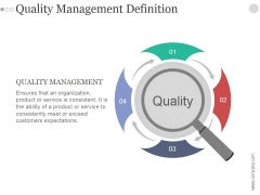 Quality Management Definition Ppt PowerPoint Presentation Designs