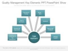 Quality Management Key Elements Ppt Powerpoint Show