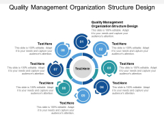 Quality Management Organization Structure Design Ppt PowerPoint Presentation Show Cpb