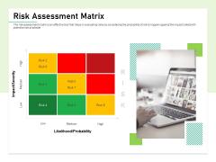 Quality Management Plan QMP Risk Assessment Matrix Ppt Portfolio Inspiration PDF