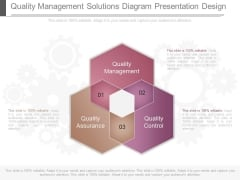 Quality Management Solutions Diagram Presentation Design