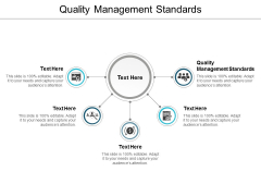 Quality Management Standards Ppt PowerPoint Presentation Model Graphics Example Cpb