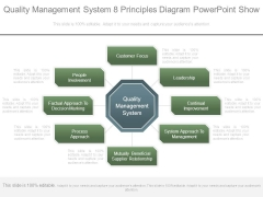 Quality Management System 8 Principles Diagram Powerpoint Show