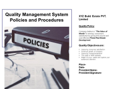 Quality Management System Policies And Procedures Ppt PowerPoint Presentation Infographics Graphics Download