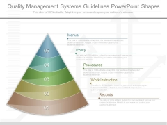 Quality Management Systems Guidelines Powerpoint Shapes