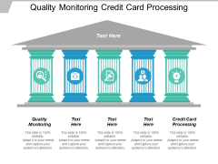 Quality Monitoring Credit Card Processing Ppt PowerPoint Presentation Icon Graphics Template