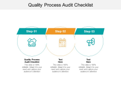 Quality Process Audit Checklist Ppt PowerPoint Presentation Model Outline Cpb