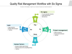 Quality Risk Management Workflow With Six Sigma Ppt PowerPoint Presentation Diagram Templates PDF