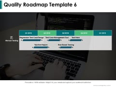 Quality Roadmap Manual Ppt PowerPoint Presentation Inspiration Show