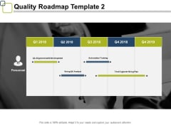 Quality Roadmap Ppt PowerPoint Presentation Gallery Templates