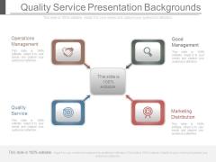 Quality Service Presentation Backgrounds