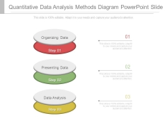 Quantitative Data Analysis Methods Diagram Powerpoint Slide