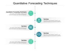 Quantitative Forecasting Techniques Ppt PowerPoint Presentation Portfolio Grid Cpb
