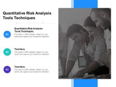 Quantitative Risk Analysis Tools Techniques Ppt PowerPoint Presentation Ideas Structure Cpb Pdf