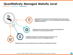 Quantitatively Managed Maturity Level Ppt PowerPoint Presentation Infographic Template Example Introduction