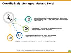 Quantitatively Managed Maturity Level Ppt PowerPoint Presentation Professional Topics