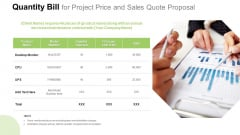 Quantity Bill For Project Price And Sales Quote Proposal Information PDF