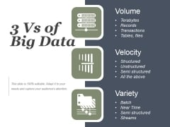 Quantity Nature Speed Of Big Data Ppt PowerPoint Presentation Model
