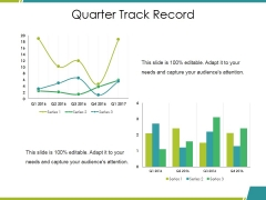 Quarter Track Record Ppt PowerPoint Presentation File Clipart Images