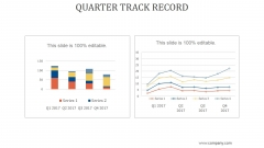 Quarter Track Record Ppt PowerPoint Presentation Samples