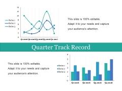 Quarter Track Record Ppt PowerPoint Presentation Slides Smartart