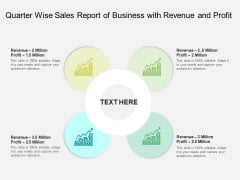 Quarter Wise Sales Report Of Business With Revenue And Profit Ppt PowerPoint Presentation File Guidelines PDF