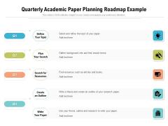 Quarterly Academic Paper Planning Roadmap Example Sample