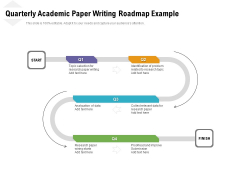 Quarterly Academic Paper Writing Roadmap Example Template