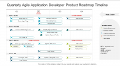 Quarterly Agile Application Developer Product Roadmap Timeline Professional